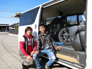 長野県 K様 遠い所引き取りありがとうございました。次回はバイクでぜひお越しください。